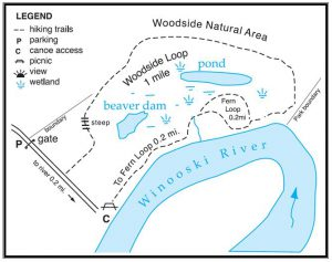 Map of Woodside
